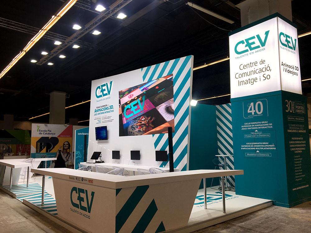 Diseño de stands en Barcelona para CEV
