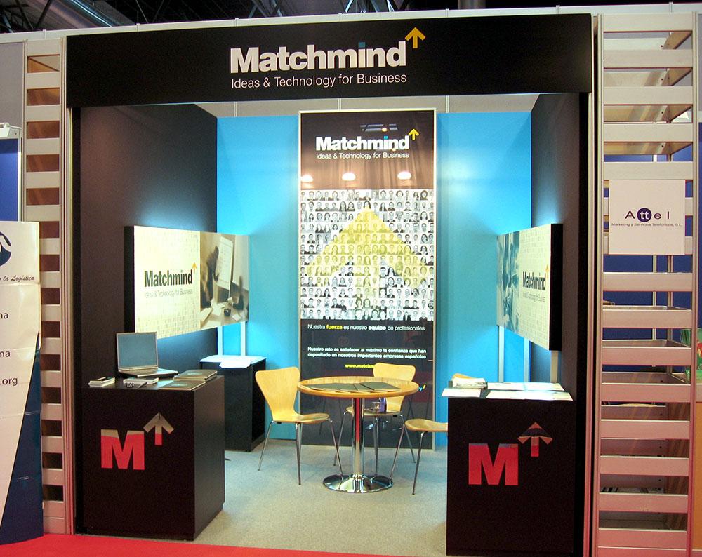 diseño de stand para Matchmind
