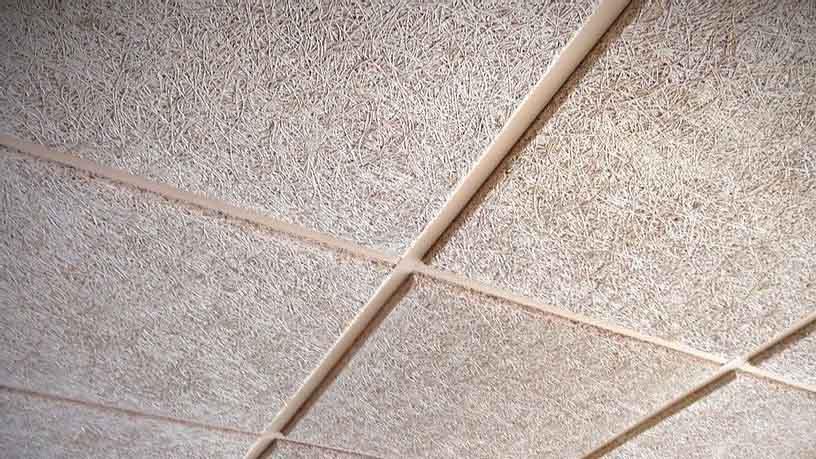 falso techo con placas de Troldtekt