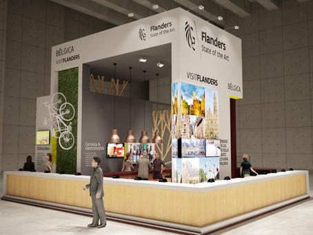 El diseño de stand elegido para el stand del Flandes en Fitur 2015.