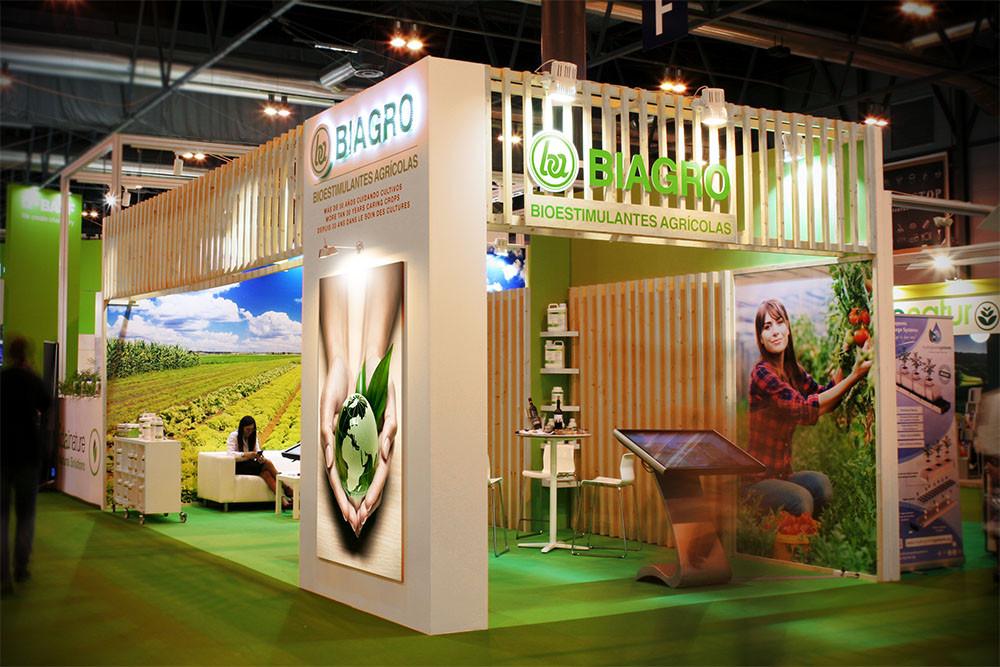 Diseño de stands en la feria Fruit Attraction para Biagro