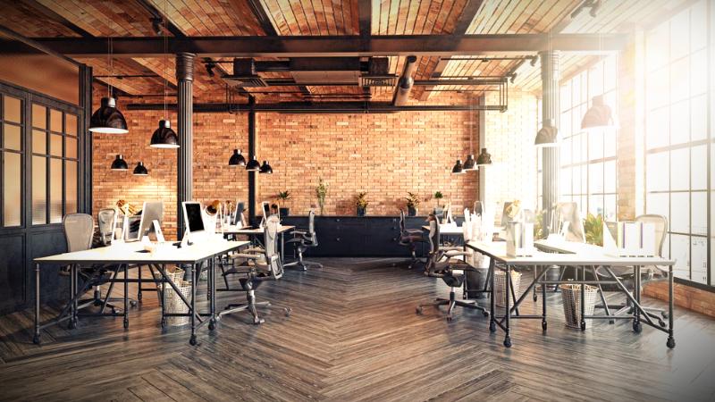 Reforma de oficinas y decoración con diseño industrial