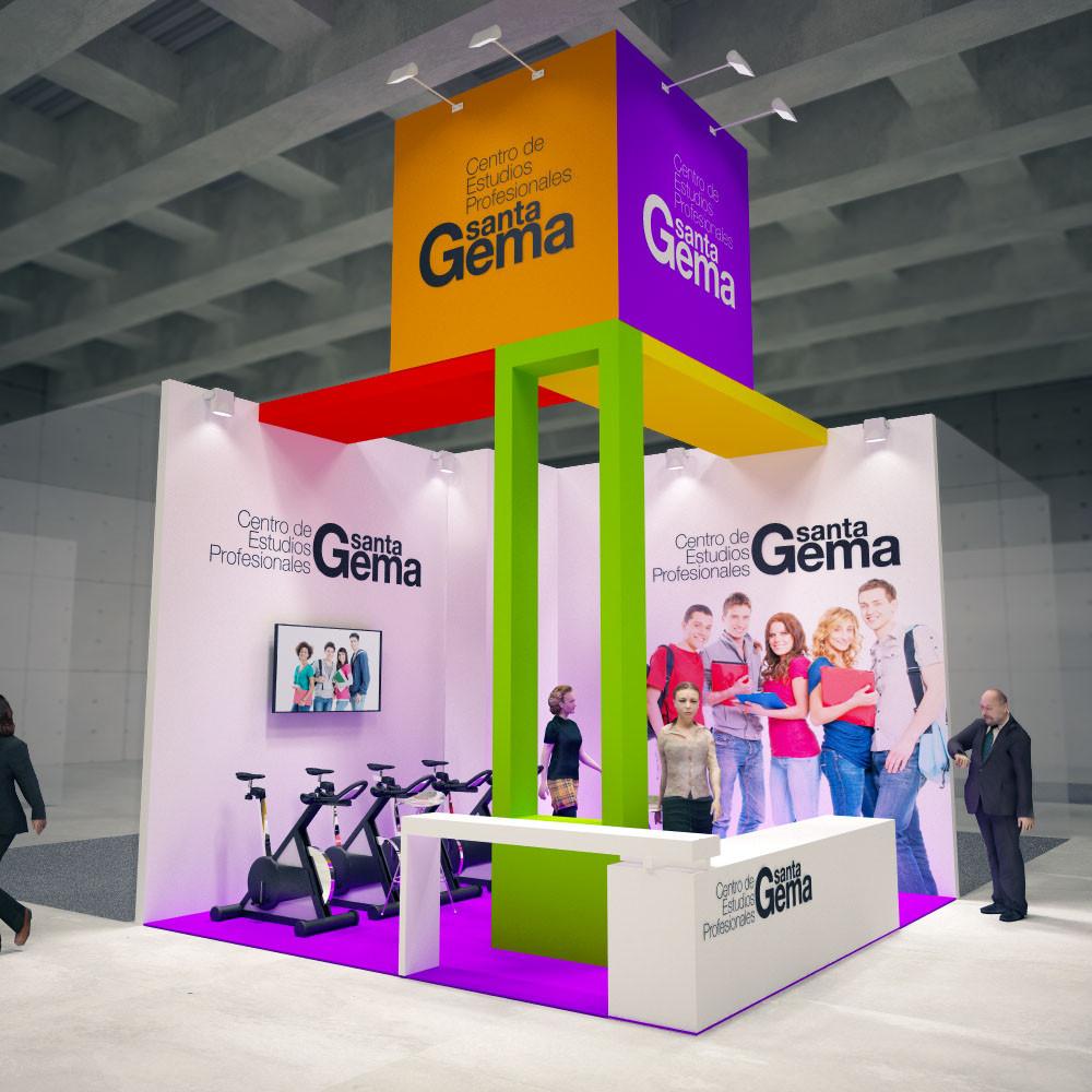 Diseño de stands para SantaGema en Aula 2016