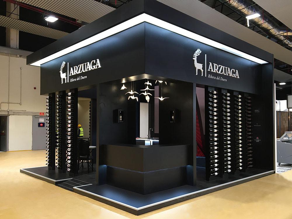 Montaje de stand de feria, fabricación y montaje en Madrid Fusión.