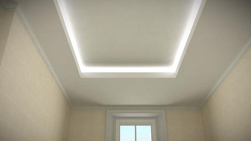 Falso techo de escayola con iluminacion integrada