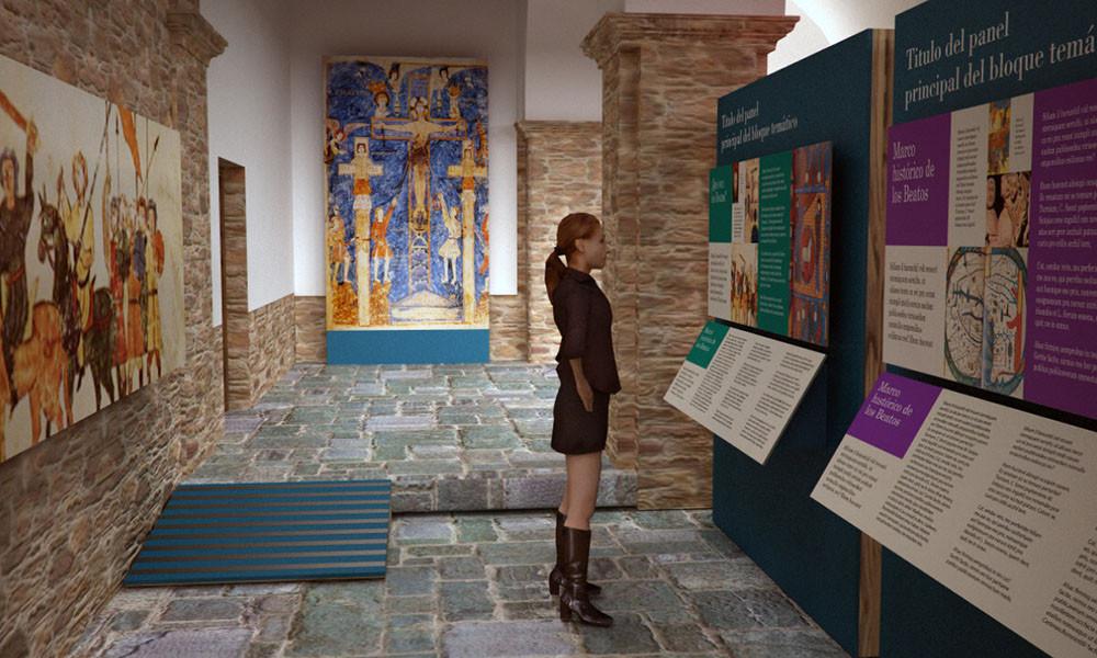 paneles interpretativos y decoración gráfica del Centro de interpretación del Beato de Tábara realizado por Decoración de
