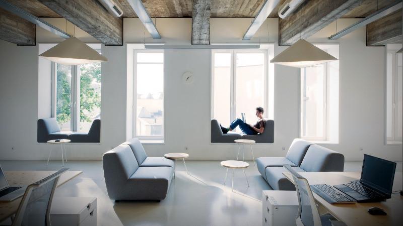Diseño de oficinas con zona de relax