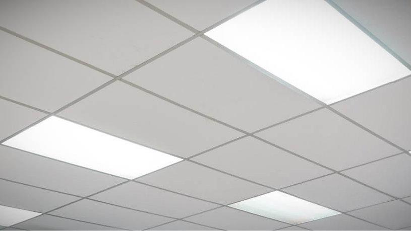 Falso techo de placas de vinilo