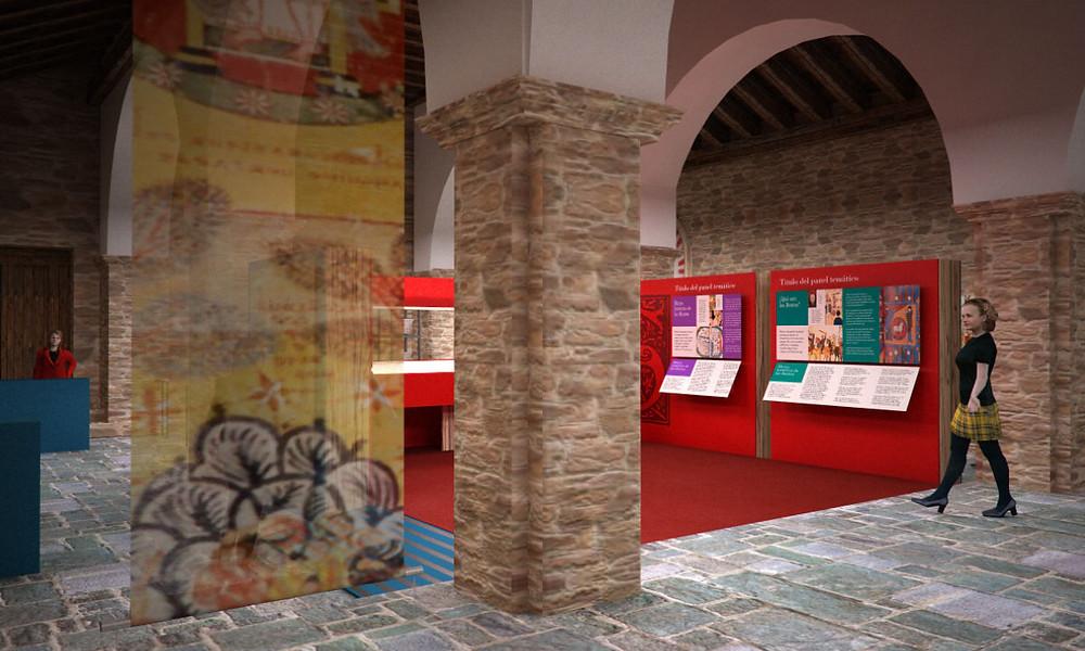 vista de la sala central del Centro de interpretación del Beato de Tábara realizado por Decoración de