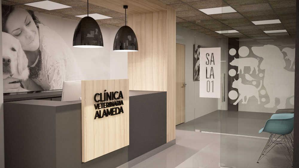 Diseño para reforma de clinica veterinaria en Madrid