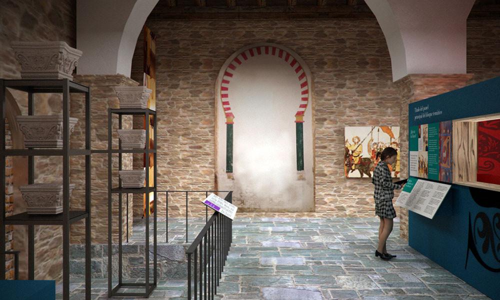 Primera sala del Centro de interpretación del Beato de Tábara realizado por Decoración de