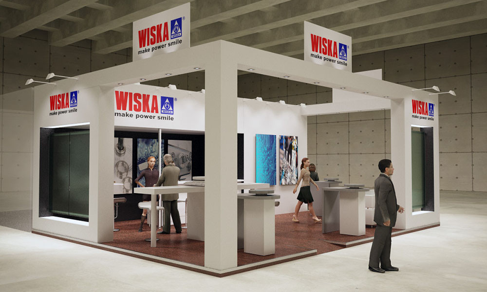 Montaje y diseño de stands para Wiska en ifema en Matelec 2016