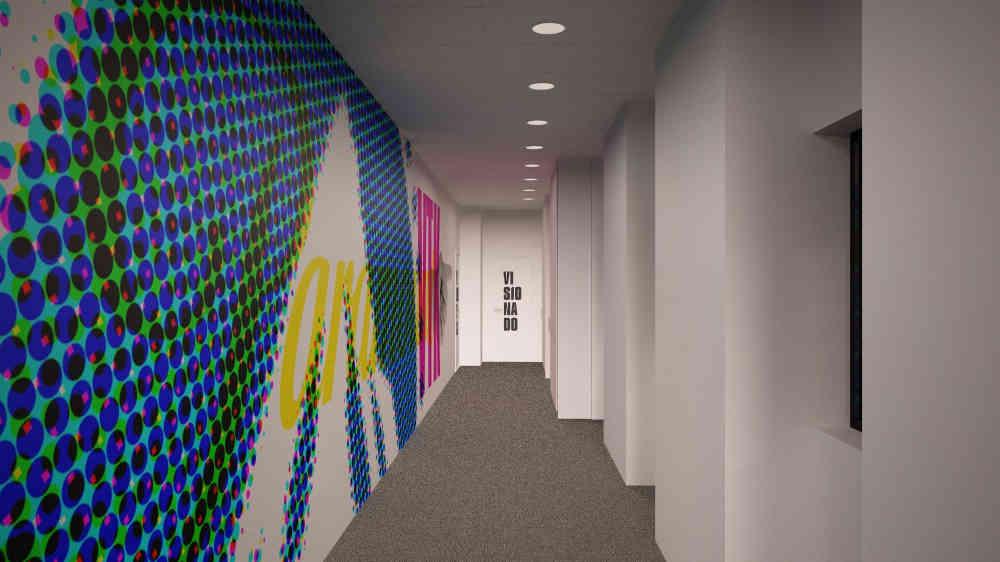 Diseño de oficina con vinilos