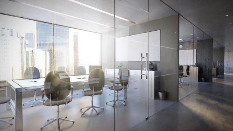 Reformas de oficinas con mamparas de vidrio