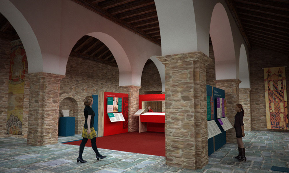 Otra vista panorámica del Centro de interpretación del Beato de Tábara realizado por Decoración de