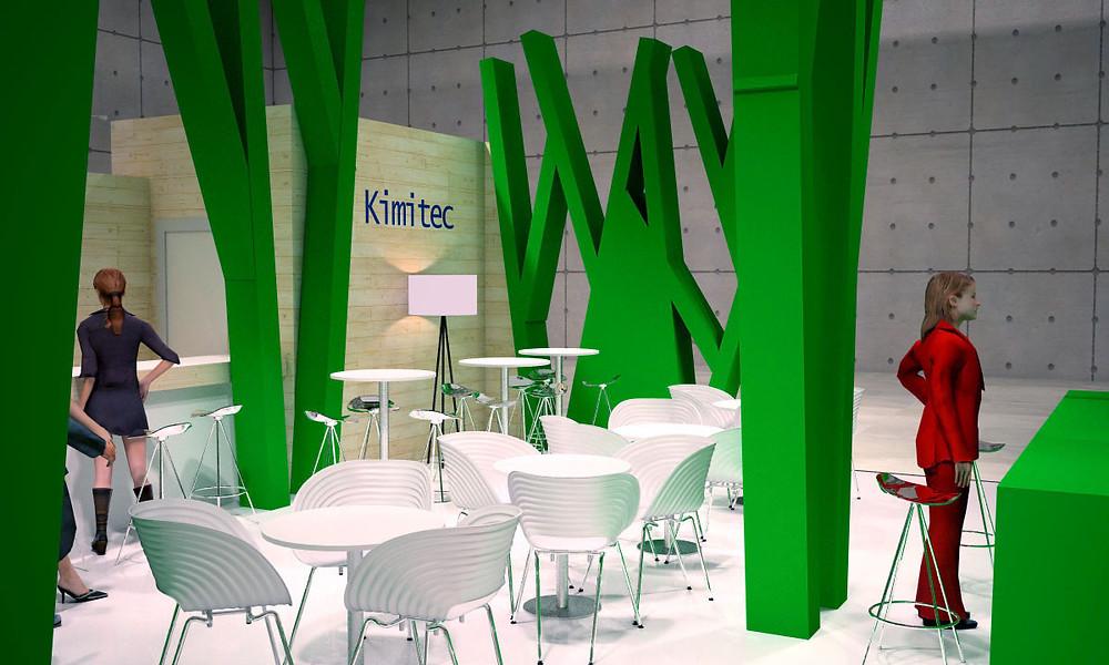 Propuesta de diseño de stand Kimitec en Fruit Attractión 2015