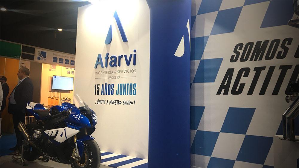 Diseño de stands y montaje de stands para Afarvi en Farmaforum 2018
