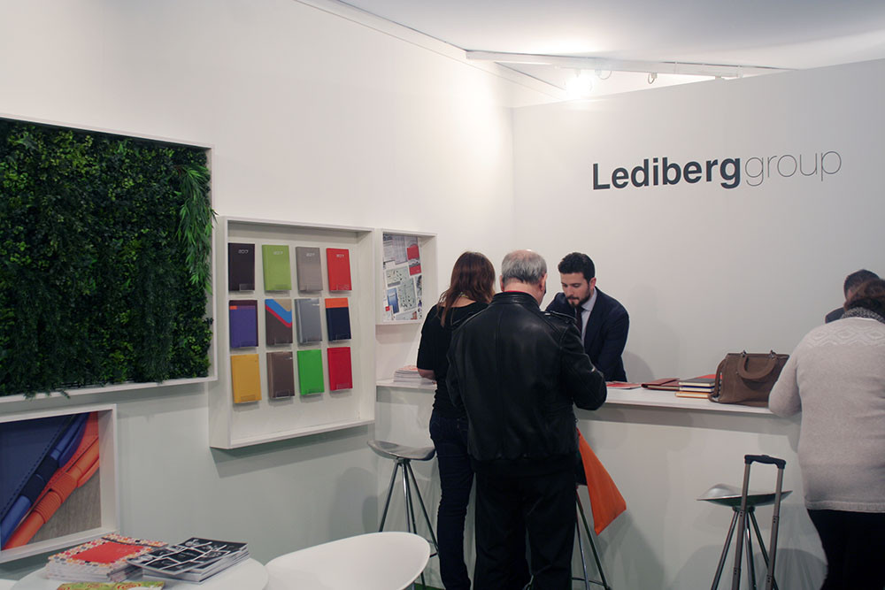 Zona de bar en el diseño de stands para Promogift 2016 para Lediberg group