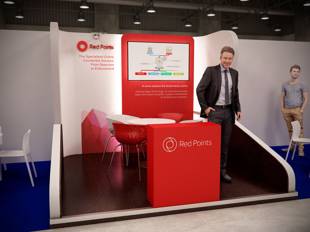 Diseño de stands para Red Point en INTA 2017 Barcelona