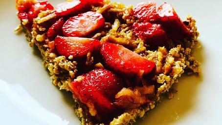 (EN)Strawberries&nuts#glutenfree #dairyfree #sugarfree Sunday cake