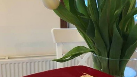 Crispy strudel with sour cherries- tastes like home