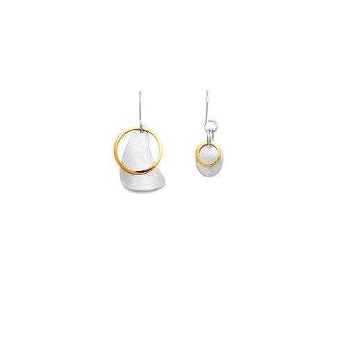 no. 7 mini asymmetrical Sketches earrings