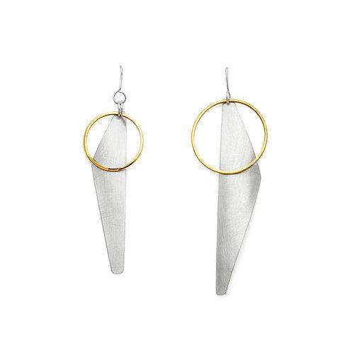 no. 5 asymmetrical Sketches earrings