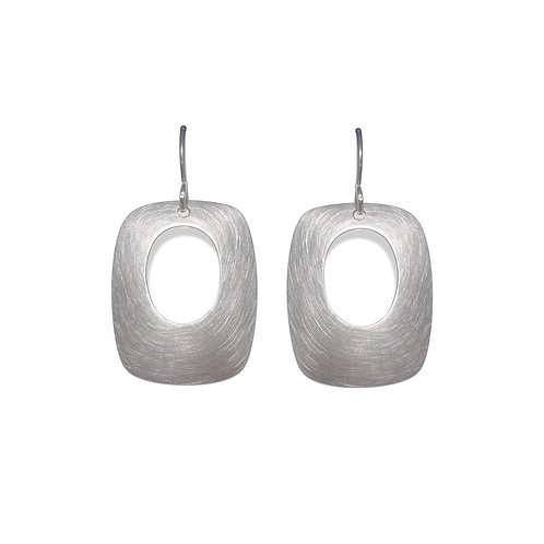 Soft Rectangle Earrings with Oval Cutouts