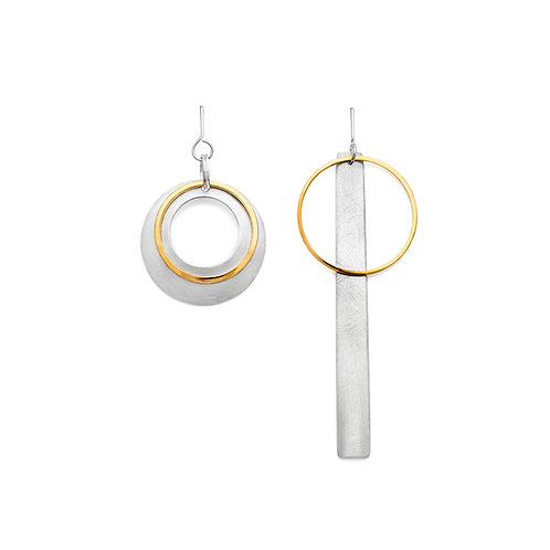 no. 3 asymmetrical Sketches earrings