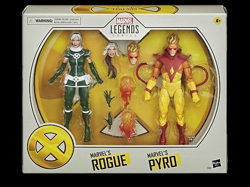 X-MEN MOVIE LEGENDS 6IN PYRO & ROGUE 2PK