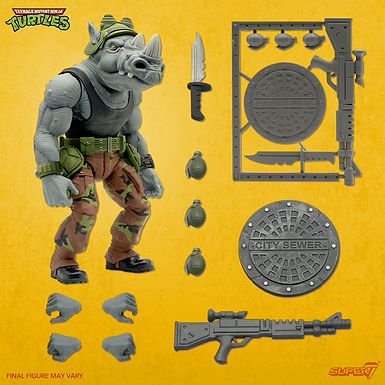 TMNT ULTIMATES WAVE 3 ROCKSTEADY ACTION FIGURE