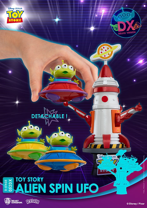 TOY STORY DS-052DX ALIEN SPIN UFO D-STAGE 6IN STATUE