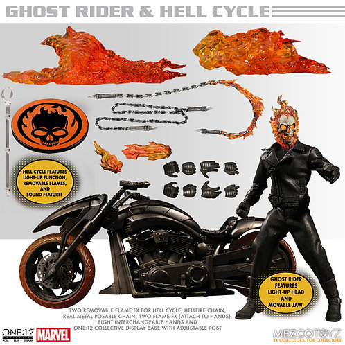 ONE-12 COLLECTIVE MARVEL GHOST RIDER & HELL CYCLE AF SET