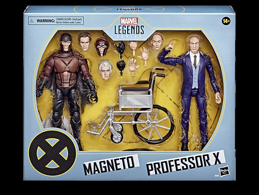 X-MEN MOVIE LEGENDS 6IN MAGNETO & PROF X 2PK AF