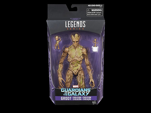 GOTG LEGENDS GROOT EVOLUTION 6IN SCALE AF 3PK