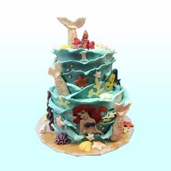 Gâteau d'anniversaire la petite sirène
