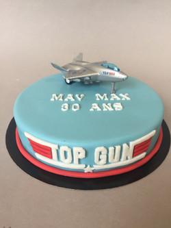 Gâteau d'anniversaire Top Gun