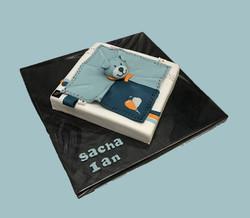 Gâteau d'anniversaire doudou bleu