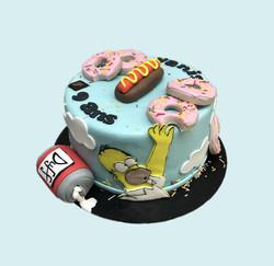 Gâteau d'anniversaire Simpson