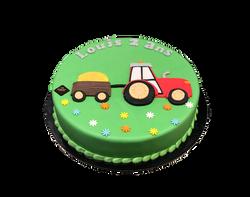 Gâteau d'anniversaire tracteur