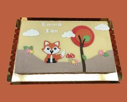 Gâteau d'anniversaire  renard
