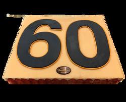 Gâteau d'anniversaire 60