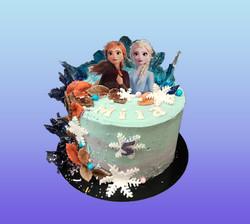 Gâteau d'anniversaire la Reine des neiges 2