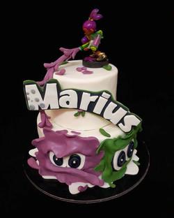 Gâteau d'anniversaire Splatoon