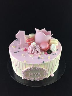 Gâteau d'anniversaire 1 an Fille