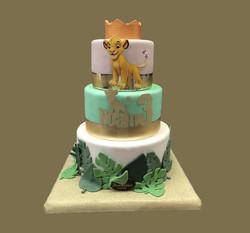 Gâteau d'anniversaire Simba