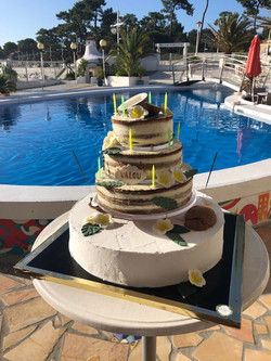 Naked Cake d'anniversaire