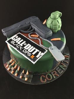 Gâteau d'anniversaire Call Of Duty