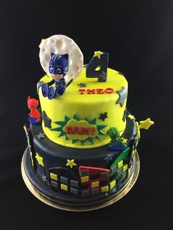 Gâteau d'anniversaire Pyjamasque