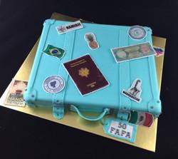 Gâteau d'anniversaire Valise